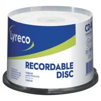 Bobina de 50 CD-R LYRECO 80  700 Mb no imprimibles