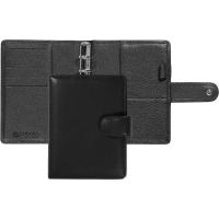 Ringbuch Succes Junior Cadiz Rindsleder mit Lasche, ohne Inhalt, schwarz(842365)